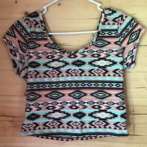 Crop Top with Open Back